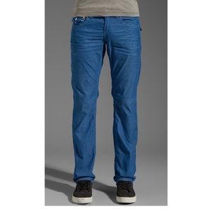 True Religion Ricky Royal Blue Leg Corduroy Pants